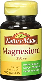 NATURE MADE Magnesium, 250 mg, Tablets, 100 ct