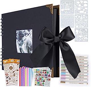 ASYOUWISH Bricolage Album Photo Creative Album Photo de Couple Collé à La Main, Album Photo A4, Scrapbook Ou Record de Cad...
