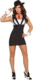 Women's Sexy Gangster Girl Adult Role Play Costume