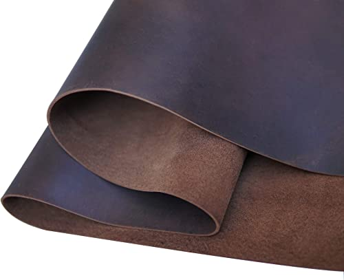 Dark Brown Leather Square 2.0mm Thick Finished Full Grain Cow Hide Leather Arts Crafts Tooling Sewing Hobby Workshop ...
