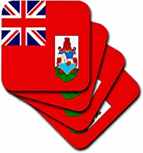 3dRose cst_28228_3 Bermuda Flag-Ceramic Tile Coasters, Set of 4