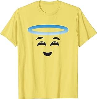 Angel Halo Smiling Face Halloween Emojis Easy DIY Costume T-Shirt
