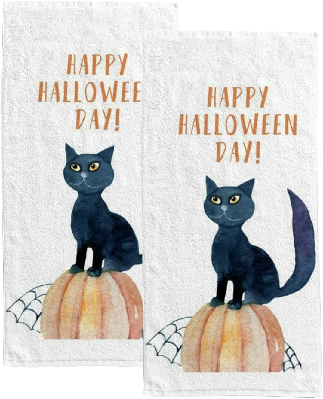 Hand Towel Indianapolis Mall Happy Halloween Day Super special price Face Bath A Fingertip Soft