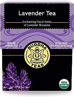 Organic Lavender Tea, 18 Bleach-Free Tea Bags, Organic Caffeine-Free Tea is a Great Source of Vitamins, Minerals, & Antioxidants, Relieves Anxiety, Supports Healthy Sleep & Brain Function, No Gmos