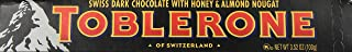Toblerone Dark Chocolate with Honey and Almond Nougat Pouch,  100 g