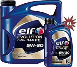 Elfo Evolution full-tech Fe 5W-30Aceite sintético de motor 1x 5L + 1x 1L = 6litros