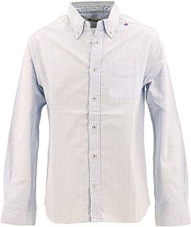 [SWEEP!! LosAngeles スウィープ!! ロサンゼルス] メンズ コットン オックスフォード ストライプ ボタンダウンシャツ OXFORD STRIPE SWSDOXST-03 BLUE(ブルー)