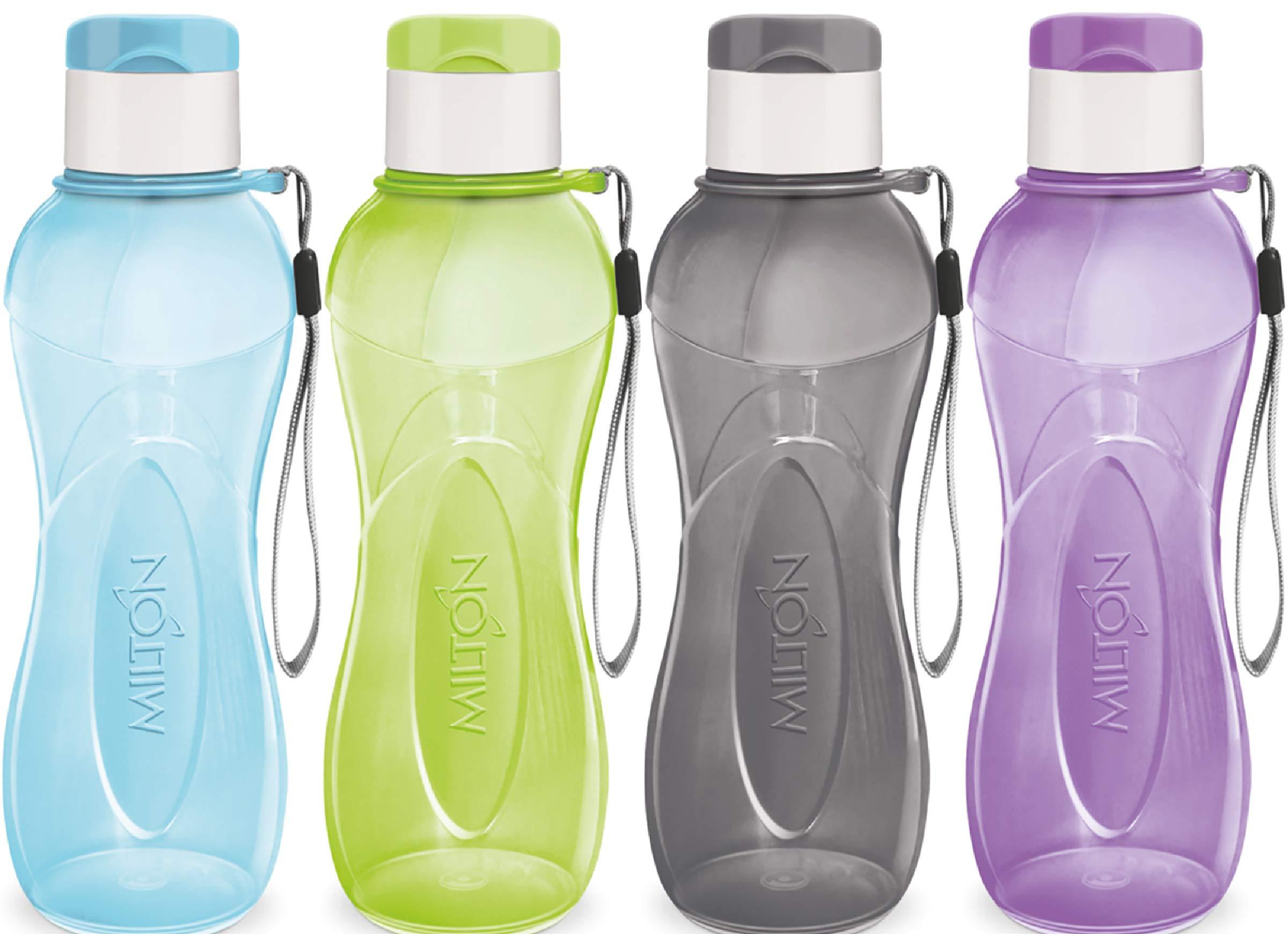 Milton 32 oz. 4 botellas de agua de plástico reutilizables para niños y adultos, sin BPA, sin fugas, ligeras, con correa de transporte para senderismo, gimnasio, ciclismo: Amazon.es: Bricolaje y herramientas