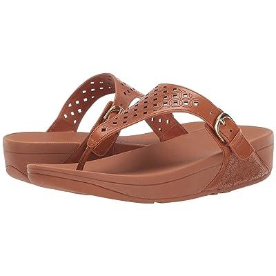 FitFlop Skinny Toe Post Latticed (Caramel) Women