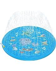 Chamsaler 噴水マット 噴水おもちゃ プレイマット ビニール プール 子供 キッズ 水遊び 親子遊び トイ プールマット 夏 家庭用 芝生遊び シャワーおもちゃ ビーチマット