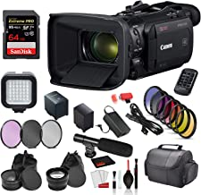 Canon Vixia HF G60 UHD 4K Camcorder (Black) (3670C002) with Accessory Bundle Package SanDisk 64gb Extreme pro SD Card + 9P...
