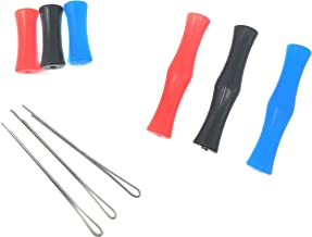Rusoji 3 Assorted Color Small Size Archery Bowstring Protective Finger Saver Guards for Practice Shooting, Hunting, or Bowfishing
