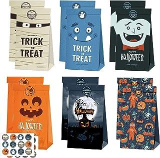Halloween tas 10 Pcs geschenkzakjes Met stickers Tassen Halloween Cadeautassen voor kinderen Halloween Verjaardagsfeestje ...