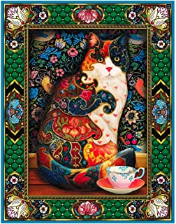 Large Diamond Painting Kits for Adults Full Drill 20x16inch Animal Kitty by TOCARE,Cup Cat 40x50cm(Canvas Size)