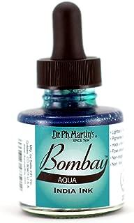Dr. Ph. Martin's Bombay India Ink (19BY) Ink Bottle, 1.0 oz, Aqua, 1 Bottle