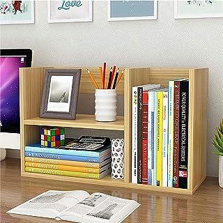 KKDWJ Bureau Bibliothèque, Mini Stockage Organisateur en Bois avec Design Double Couche, Fort et Patient et économiser de ...