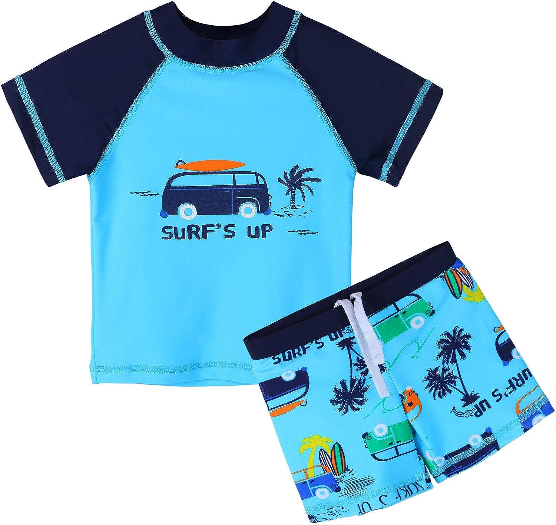 HUAANIUE Baby Toddler Boy Fees Popular shop is the lowest price challenge free Set Rashguard Swimwear Swimsuit