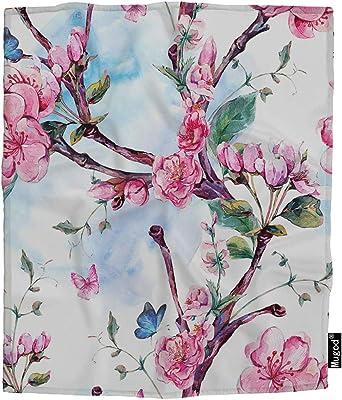 Amazon.com: Emvency Throw Blanket Warm Cozy Print Flannel ...