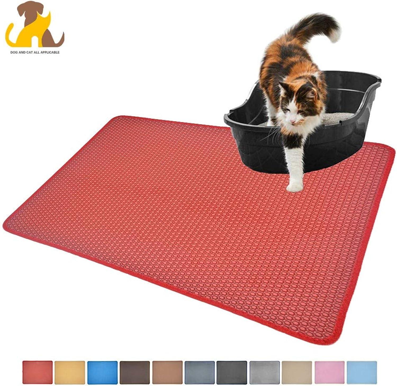 Cat Litter Mat,Litter Trapping Mat,Honeycomb DoubleLayer