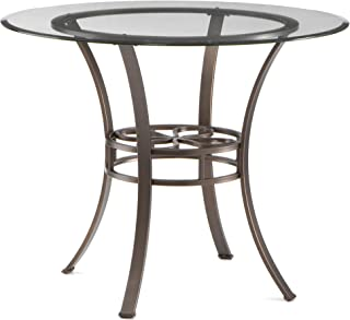 Best metal dining table with glass top Reviews