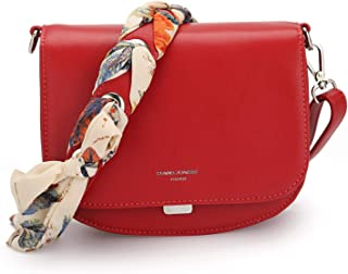DAVIDJONES Women Cross-Body Bags Leather Shoulder Bag