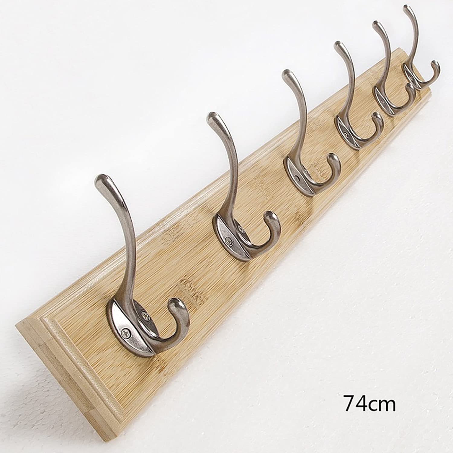 Coat Rack Wall Hanging Coat Rack Entrance Solid Wood Hanger Simple Modern Wall Hanging Hook Bedroom Living Room Hook (Size   74cm)