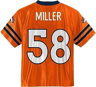 Outerstuff Von Miller Denver Broncos Orange #58 Infants Toddler Home Player Jersey