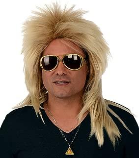 Costume Wigs; Long 80s Rocker Wig, Dirty Blonde Wig