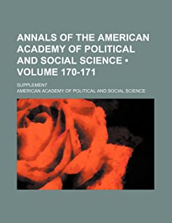 Annals of the American Academy of Political and Social Science (Volume 170-171); Supplement