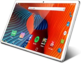 Tablet 10.1 inch Android Tablet with 2GB+32GB, 3G Phone Tablets & Dual Sim Card & 2MP+ 5MP Dual Camera, Quad Core Processo...