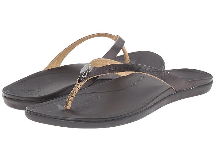 Ho'opio Leather  Shoes (Onyx/Black) Women's Sandals