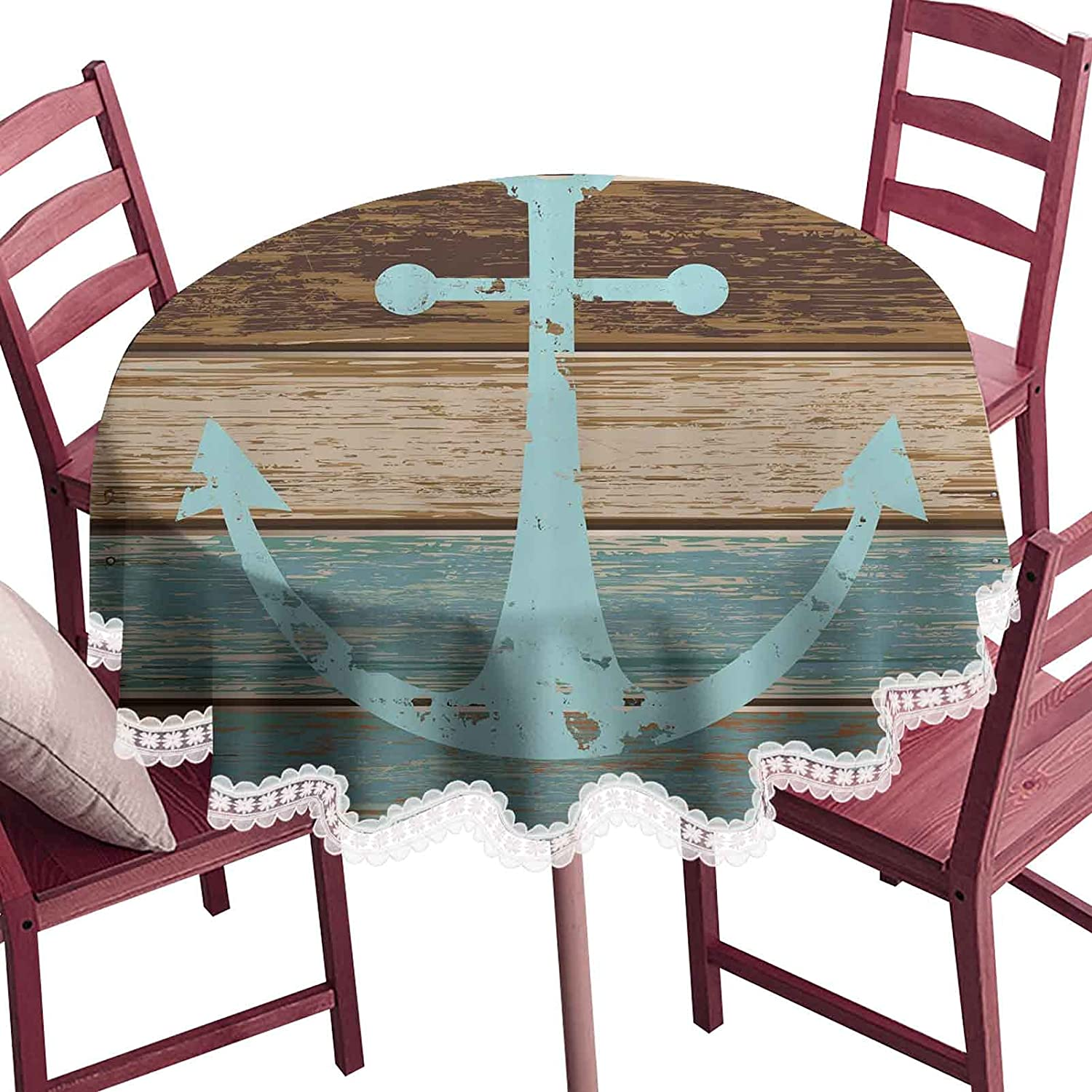 Anchor Round Macrame Direct sale of manufacturer Dining Table on Protector Seasonal Wrap Introduction Marine Timeworn