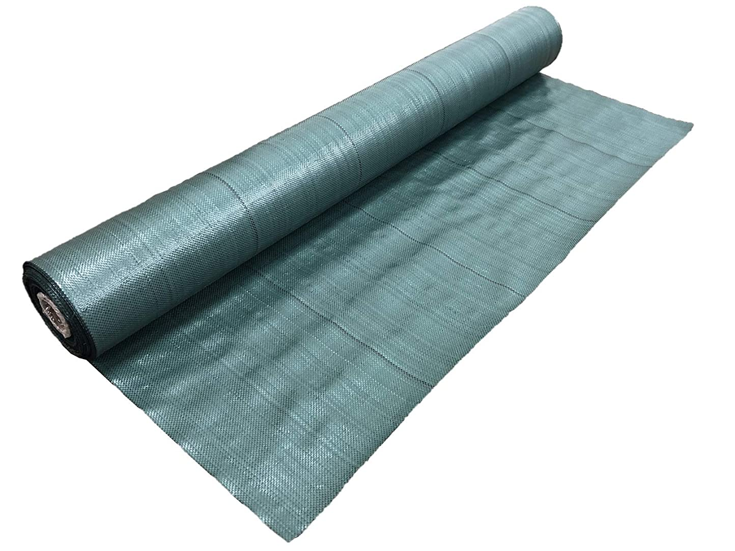 三角形雨のポケット高質防草シート モスグリーン 1m×50m (耐用年数4~5年)厚み0.4mm 厚手 草よけシート UV剤?抗菌剤入り
