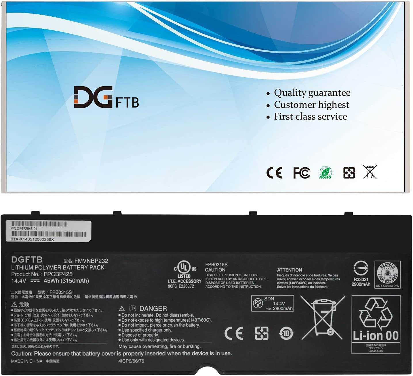 New FPCBP425 FMVNBP232 Columbus Mall Laptop Battery In a popularity with Li Compatible Fujitsu