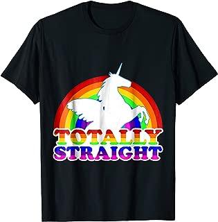 Totally Straight Unicorn Shirt LGBT Pride T-shirt