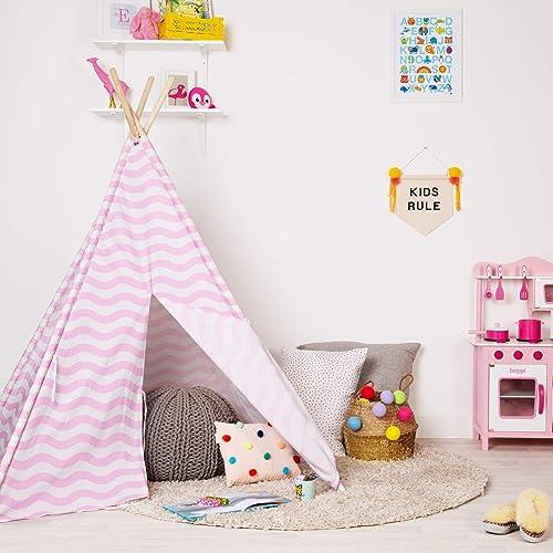 Childrens Fabric Play Tent Teepee Wigwam Bedroom Kids Indoor ...