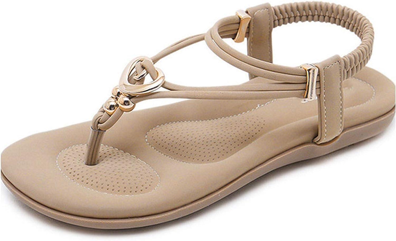 Plus Size 42 Women Sandals Rhinestone Flip Flops Comfort Flat Sandals Beach shoes