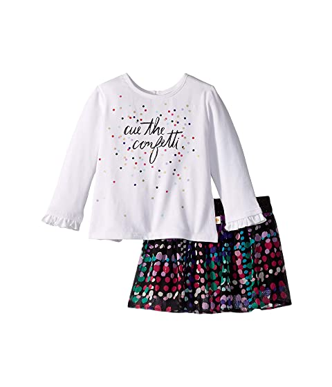 Kate Spade New York Kids Cue The Confetti Skirt Set (Infant)