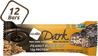 NuGo Dark Chocolate Peanut Butter Cup, 12g Vegan Protein, 200 Calories, Gluten Free, 12 Count