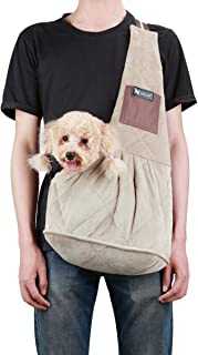 TAIL UP Pet Carrier Sling, Shoulder Bag with Adjustable Slide Strap for Small & Medium Dogs, Cats or Rabbits, Hands-Free Outdoor Pet Carrier, Puppy Carrier Tragvel Bag