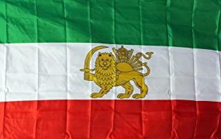 Historic IRANIAN LION FLAG As Pictured, 3'x5' old IRAN