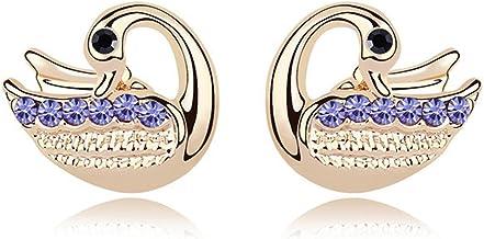 Ablaze Jin Jewelry Crystal Earrings Swan Love Elegant Earrings High End Jewelry