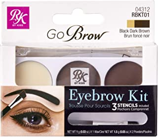 Ruby Kisses GoBrow Eyebrow Kit (RBKT01 - Black Dark Brown)