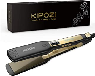 KIPOZI Piastra Capelli Professionale, Piastra Larga in Titanio con Display Digitale LCD, Adatta a Tutti i Tipi di Capelli,...