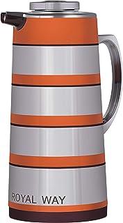 Royalford Golden Figured Vacuum Flask 1.6 Liter, RF9589, 1
