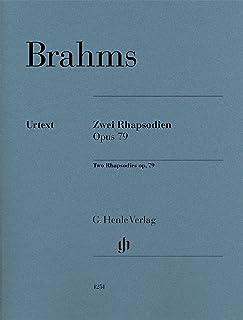 ブラームス: 2つのラプソディ Op.79/原典版/ボイド運指/Eich編/ヘンレ社/ピアノ・ソロ