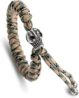 Kayder Snake Knot Paracord Bracelet with Personalized Retro Metal Accessories (Skull, Egg, Etc)