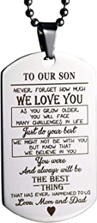 to our son dog tag