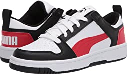 Puma White/Puma Black/High Risk Red 1