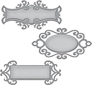 Spellbinders S5-030 Shapeabilities Fancy Tags Two Etched/Wafer Thin Dies